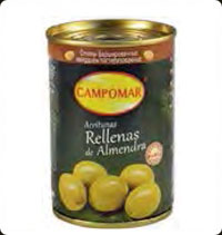 Olives Campomar Manzanilla stuffed with almond 10 oz