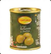 Olives Campomar Manzanilla stuffed with anchovies Minibar 10 Oz