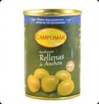 Olives Campomar  Manzanilla stuffed with anchovies 10 oz