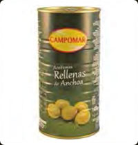 Olives Campomar  Manzanilla stuffed with anchovies 2Kg