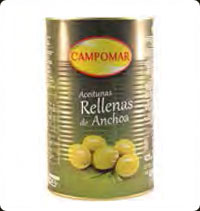 Olives Campomar  Manzanilla stuffed with anchovies 5 Kg