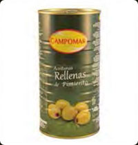 Olives Campomar  Manzanilla stuffed with pepper 2.5 Kg