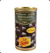 La Sota black pitted olives