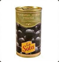 La Sota Black Whole olives