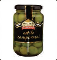 Olives La Explanada Gourmet Green whole olives camporeal style A370