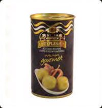 Olives La Explanada Gourmet manzanilla stuffed with anchovy 12oz