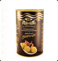 Olives La Explanada Gourmet manzanilla stuffed with anchovy 5kg