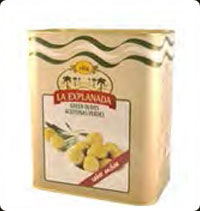 Olives La Explanada Green Whole 10Kg Anchovy Flavor
