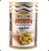 Olives La Explanada Manzanilla stuffed with anchovy 5kg