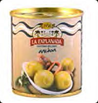 Olives La Explanada Stuffed with anchovy 200gr party