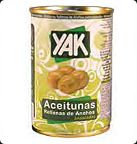 Yak Olives manzanilla stuffed with anchvies 10 oz