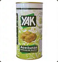 Yak Olives Manzanilla stuffed with anchovy 2Kg